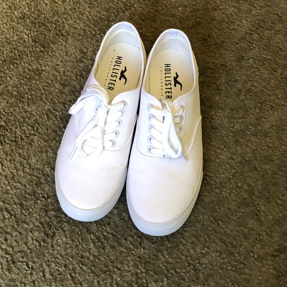 Hollister Mens Lowtop White Canvas